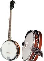 New 5 String Banjo Full Size with Closed Back 24 Brackets Remo Head & Maple Neck