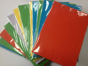 A4 COLOURED PAPER 80GSM IDEAL FOR CRAFTS OR PRINTERS IN PACK OF 50