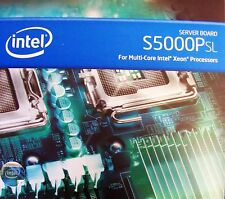 Intel S5000PSLSATA Dual LGA771 EATX New Server Board With Accessories Retail Box