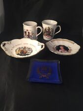 Queen Elizabeth Silver Jubilee Coalport Staffordshire Cups Plates Ashtray Royal