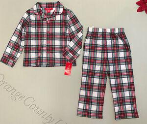 Matching Kids Girl Boy Plaid Pajama Set Christmas Holiday pj's 2-3 4-5 10-12