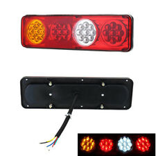 2x 24V LED Auto Truck Tail Light Parking Brake Indicator Lamp White+Red+Amber