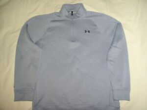 Mens Under Armour Storm Cold Gear Jacket XL,Gray,Pullover,1/4 Zip,Ex Cond,Sport