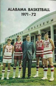 1971-72 ALABAMA CRIMSON TIDE BASKETBALL media guide, C.M. NEWTON, EXCELLENT
