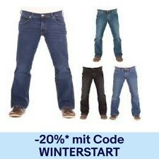 Wrangler Herren Jeans Jacksville - Bootcut - Schwarz - Blau - Black Walker