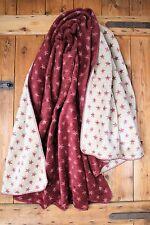 Ibena Kuschel-Wolldecke Wendedecke Sterne rot 150 cm x 200 cm Baumwollmischung