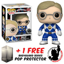 FUNKO POP POWER RANGERS BILLY BLUE RANGER VINYL FIGURE + FREE POP PROTECTOR