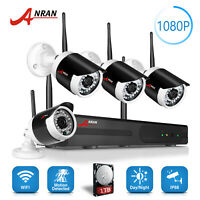ANRAN 1080P Wireless Security Camera System 8CH WIFI NVR Outdoor Night Vision 1T
