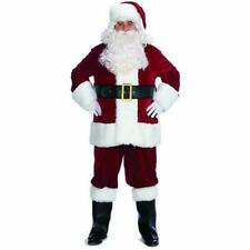 "Santa Suit /""Pub Crawl/"" Style 5Pc Rd//Wht Felt Coat Pants Hat Belt /& Beard Plus"
