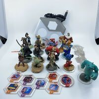 Disney Infinity Lot of 17 Assorted Characters Star Wars Woody Stitch Marvel