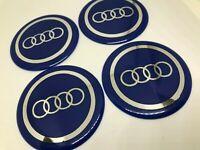 3D  Aufkleber Radkappen  Audi 4x60mm Nabendeckel Hengeldeckel Emblem