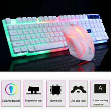 Gaming Backlight LED Rainbow Keyboard Mouse Set for PS3 PS4 Xbox One Xbox 360