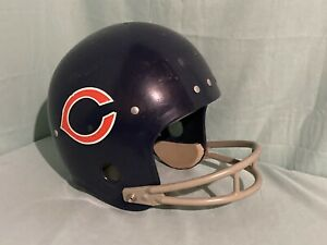 Vintage Rawlings Chicago Bears HNFL-N Large U.S.A.1986 No Chin Strap 2 BAR
