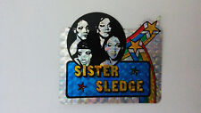 Sister Sledge pop disco group SMALL STICKER Vintage logo music