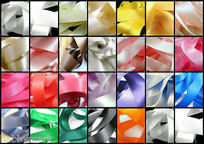"""50mm (2"""") Double Sided Satin Polyester Ribbon with Woven Edge - 27 Colours"""