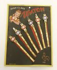 Vintage 1960's high class watch for kids Tin Toy JAPAN new set of 6