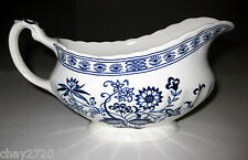 """EUC J & G MEAKIN """"BLUE NORDIC"""" IRONSTONE GRAVY BOAT, Made in England"""