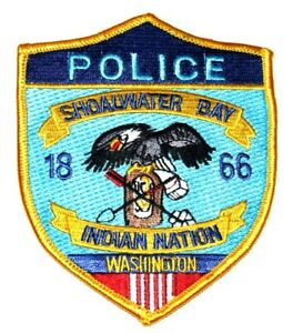 SHOALWATER BAY INDIAN NATION WASHINGTON WA Sheriff Police Patch AA24