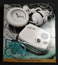 Pool/Shower Radio, Clock, Shower Head Set Jerdon Water Resistant - Vintage Nib