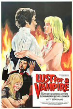 LUST FOR A VAMPIRE SUPER 8 COLOUR SOUND 4 X 400FT CINE FILM 8MM HAMMER DERANN