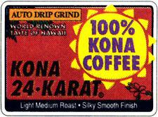Hawaiian Lion 24k Gold Roast Ground 100 Kona Coffee Medium Light 7 Oz