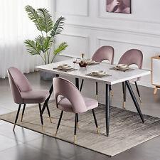 1/2er Set Esszimmerstuhl Wohnzimmer Küchenstühle Samt Schwarz Beine Stühle Pink