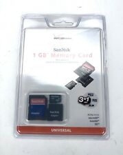 New -  SanDisk 1 GB Memory Card with Adapters (3 in 1 Verizon Wireless) - NIP!