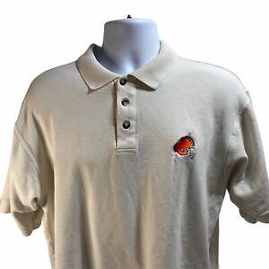 Vintage NFL Starter Cleveland Browns Polo Shirt Size XL Cotton Short Sleeve