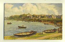 h0321 -  Canoe Lake , Ryde , Isle of Wight - postcard art