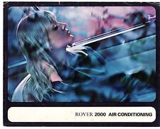 Rover 2000 P6 Air Conditioning 1969-70 UK Market Foldout Sales Brochure