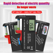 Digital Battery Meter Button Cell Volt Tester Checker BT-168 AA/AAA/C/D/9V BON