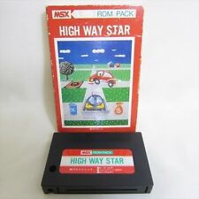MSX HIGH WAY STAR Import Japan Video Game No inst 0494 MSX