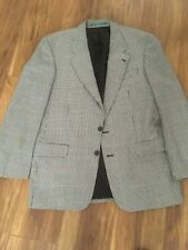 "Mans Jacket. Size Large. Chest 44/46"". Black Check. Lined."