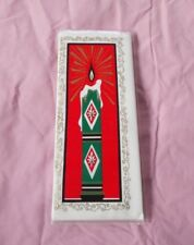 Vintage Christmas Card with 3 Hand Rolled Men's Handkerchiefs