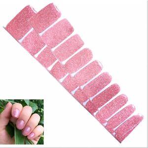 Jaysea Nails Polish Strips - Color Light Pink Glitter Street Nail Art -B4G1 Free