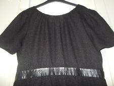 ♥ H&M ♥ Empire Etui Kleid ♥ kleines Schwarzes Puffärmel Falten ♥ 46 ♥ Schwarz ♥