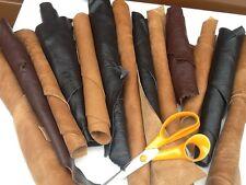 1kg Big Beautiful  scraps/ Off cuts Leather Italian 3 colours