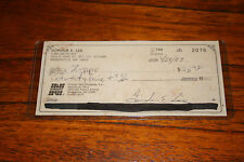 "GORDON E. LEE ""PORKEY"" LITTLE RASCALS SIGNED CHECK"