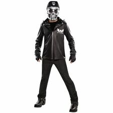 Boys Teen Bad to the Bone Halloween Skeleton Skull Costume Fancy Dress