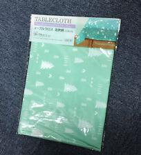 "JAPAN Tablecloth 51.2"" x 68.9"" - Scandinavian Pattern Pastel Green - PEVA Resin"