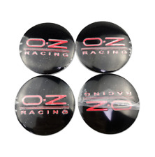 4x56mm Oz Racing Wheel Center Stickers For Opel Mitsubishi Chevrolet Black Red