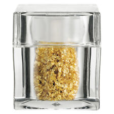 Edible Gold Leaf Flakes in Clear Acrylic Cube Shaker. 100mg.