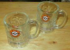 Lot 2 A&W Root Beer Heavy Glass Mug Short