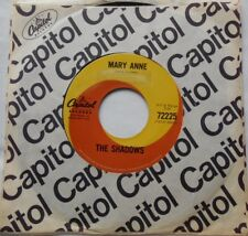 THE SHADOWS Mary Anne / Chu-Chi VG+ to VG++ CANADA 1965 CAPITOL 72000 series 45
