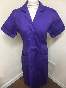 Unicorp Purple - Black  Trim Tunic Dress Nurses Care Assistants etc  Uniforms