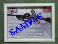 Bren Light Machine Gun - (LMG) British Army Framed for Display