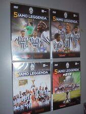 4 DVD 5IAMO LEGGENDA FC JUVENTUS CAMPIONE D'ITALIA 2015/2016 OFFICIAL SIAMO