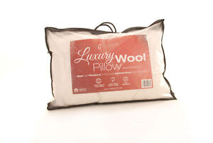 """Luxury Wool Pair Of Pillows 19"""" x 29"""" 700 grams - Soft Pillow Wool Lambswool"""