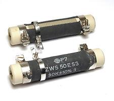 2x Draht-Widerstand 30 kOhm mit Abgriff-Schelle, 50 Watt, Typ ZWS 50 E