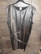 Authentic Ann Demeulemeester  black leather dress size 40 made in Belgium